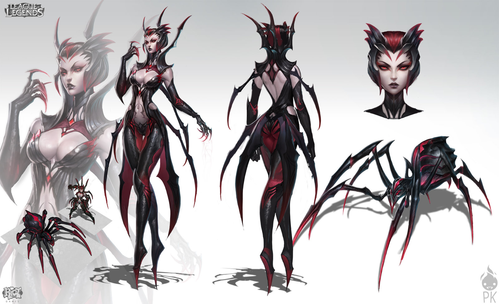 Elise The Spider Queen by ZeroNis 1600x977