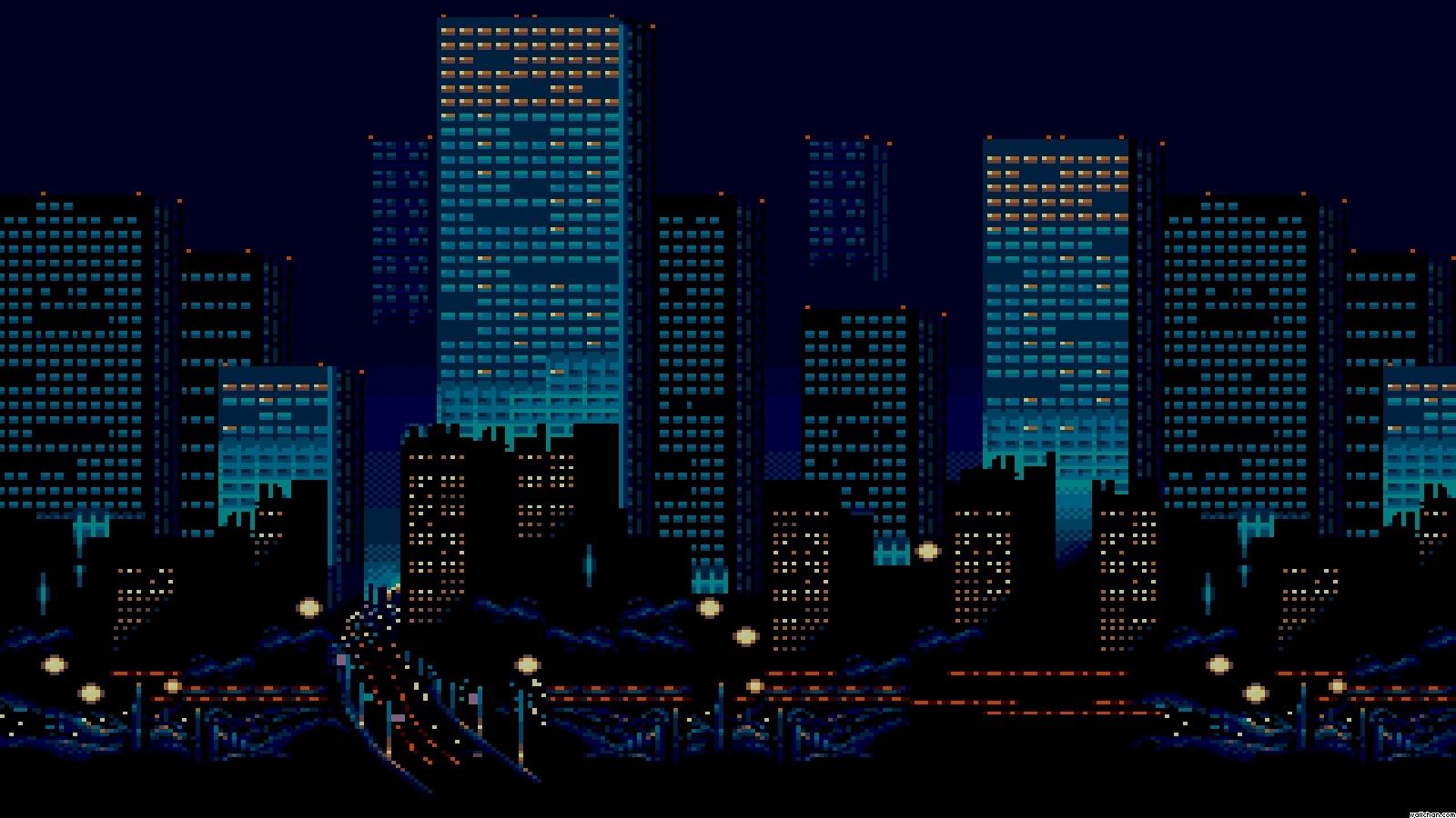 Free Download Pixel Art Cityjpg 1600x900 For Your Desktop Mobile Tablet Explore 48 Pixel Art Wallpapers 8 Bit Wallpaper Pixel Wallpaper Animated Pixel Wallpaper