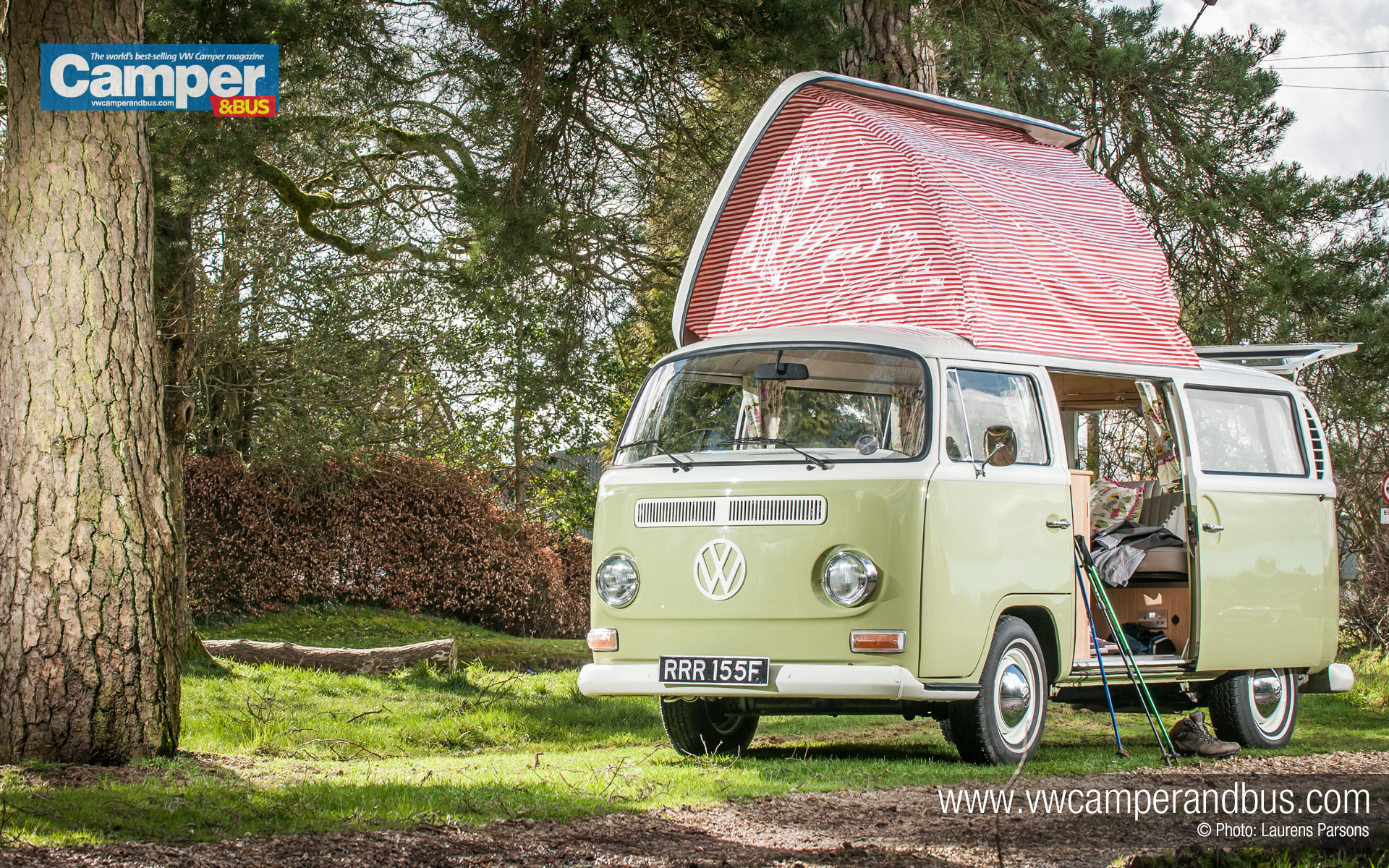 1968 Doormobile VW Campervan   Desktop Wallpaper 1920x1200