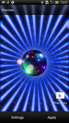 View bigger   Disco Ball Live Wallpaper for Android screenshot 288x512