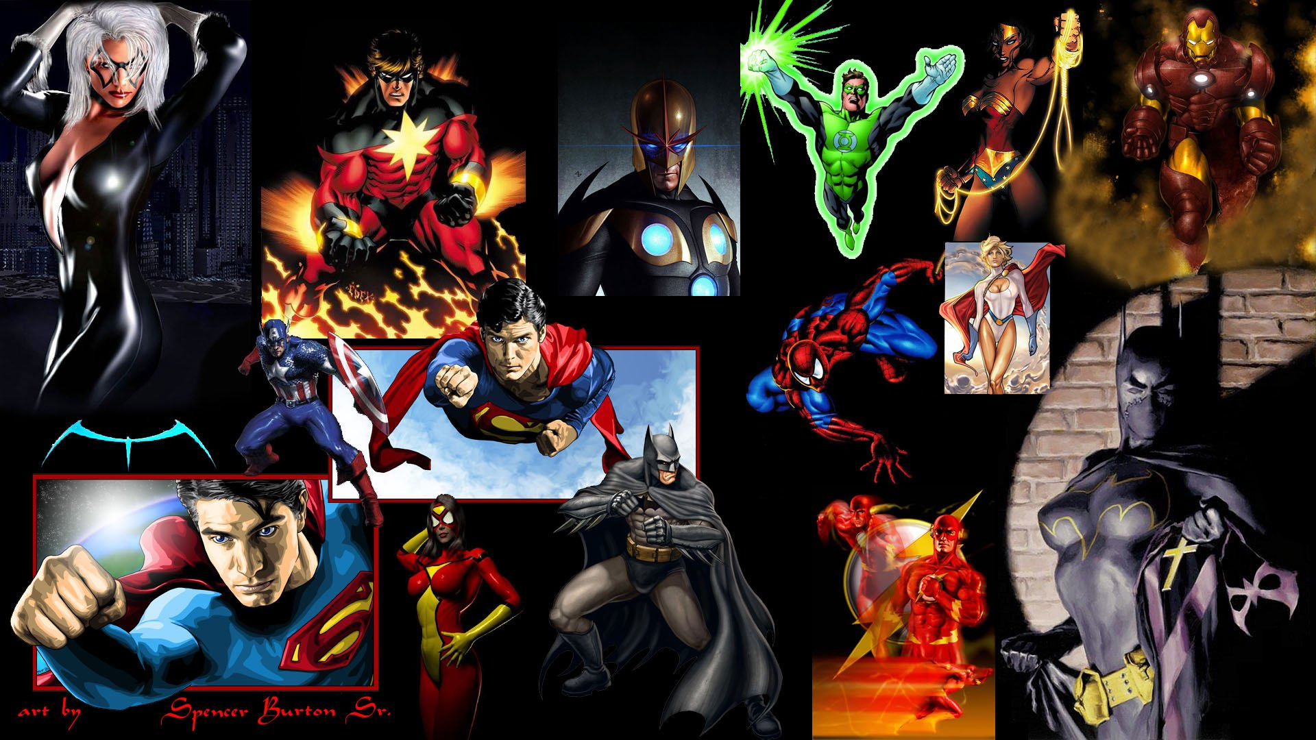 Super heroes gallery collection widescreen background 1920x1080
