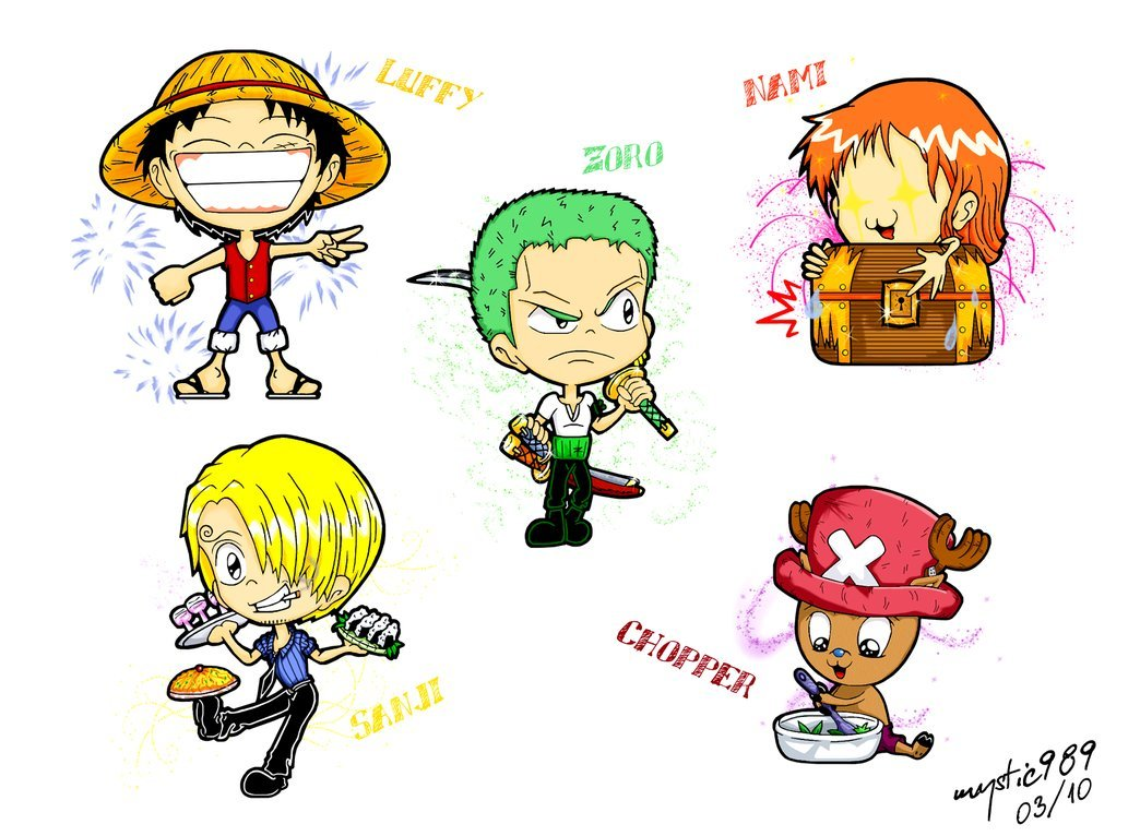 One Piece Chibi]Wallpaper 1044x766