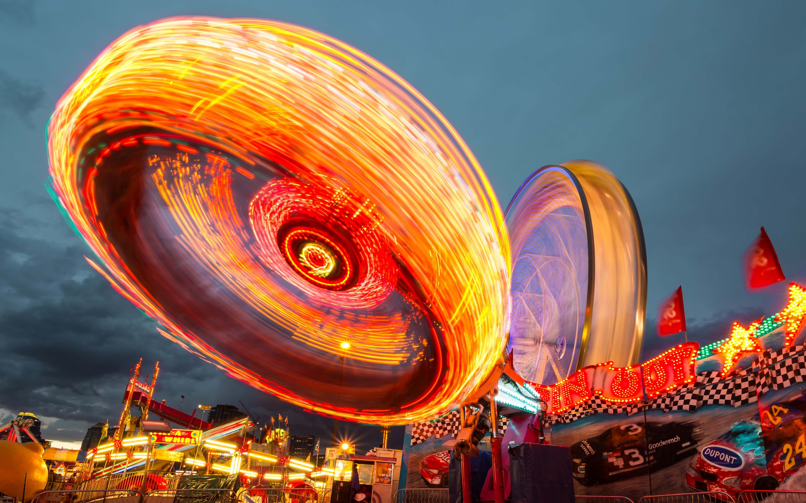 Calgary Stampede Lights Wallpaper for Desktop 2560 x 1600 2560x1600