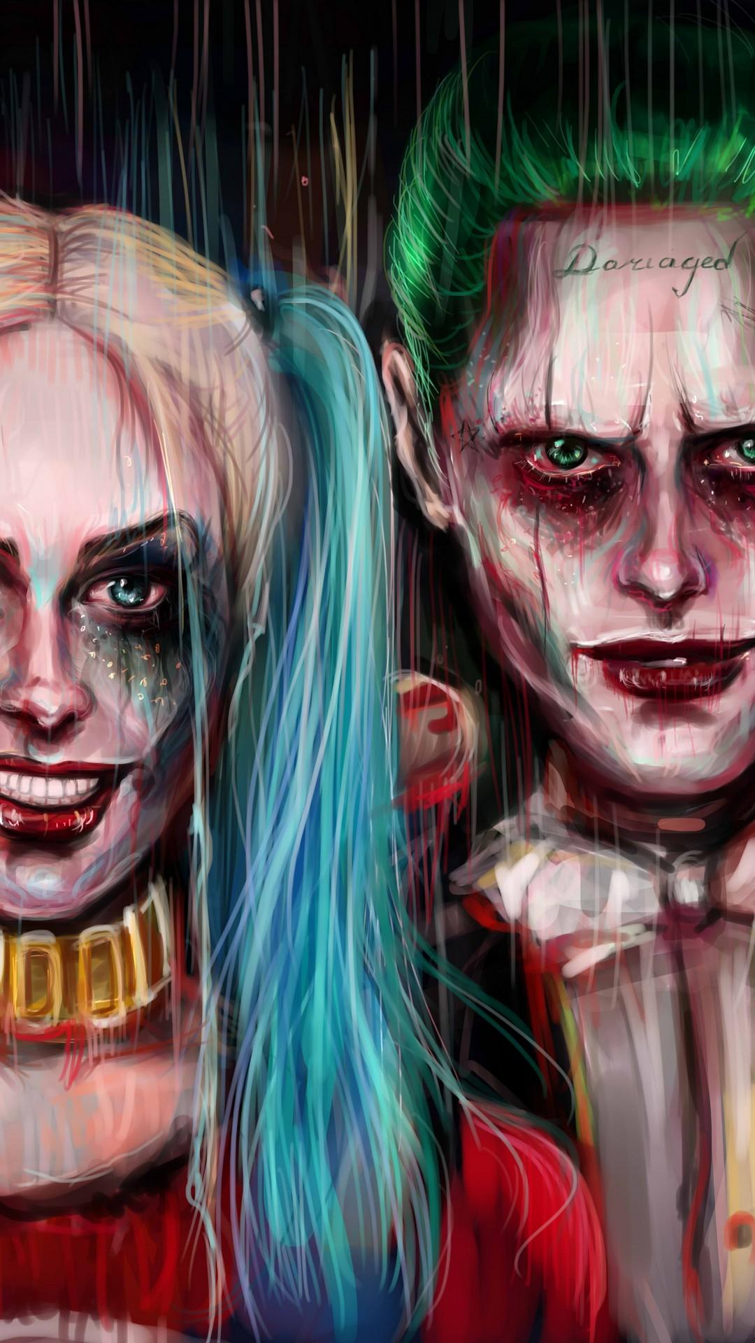 Harley Quinn and Joker iPhone Wallpaper 2019 3D iPhone Wallpaper 1080x1920