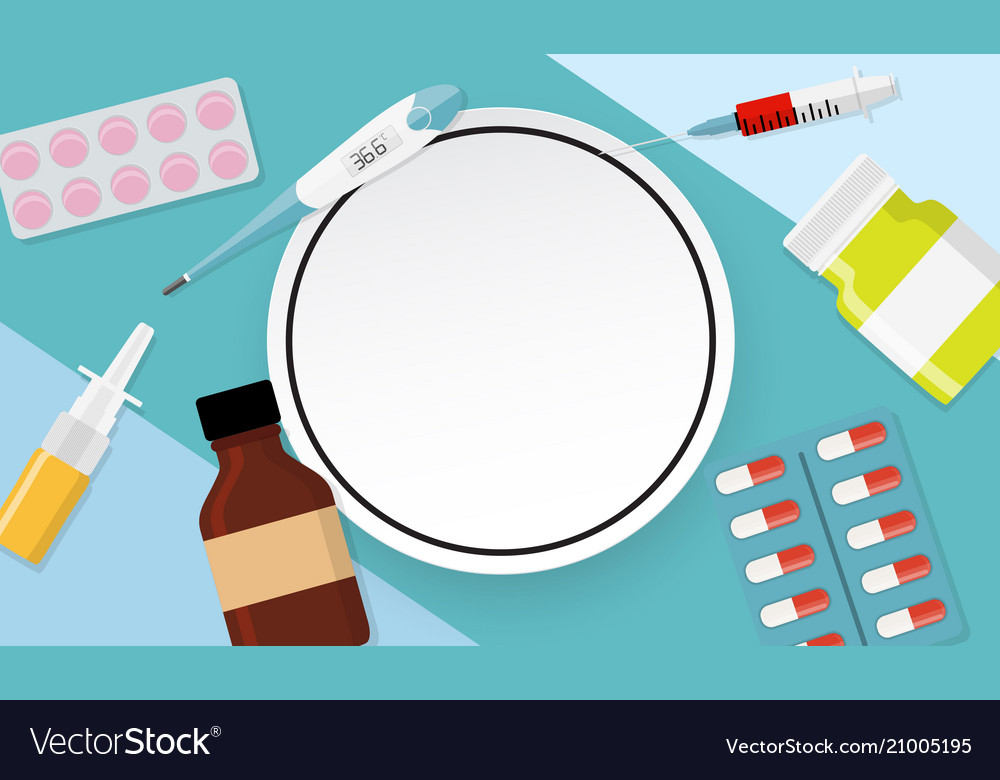 Health medical background with frame Royalty Vector 1000x780