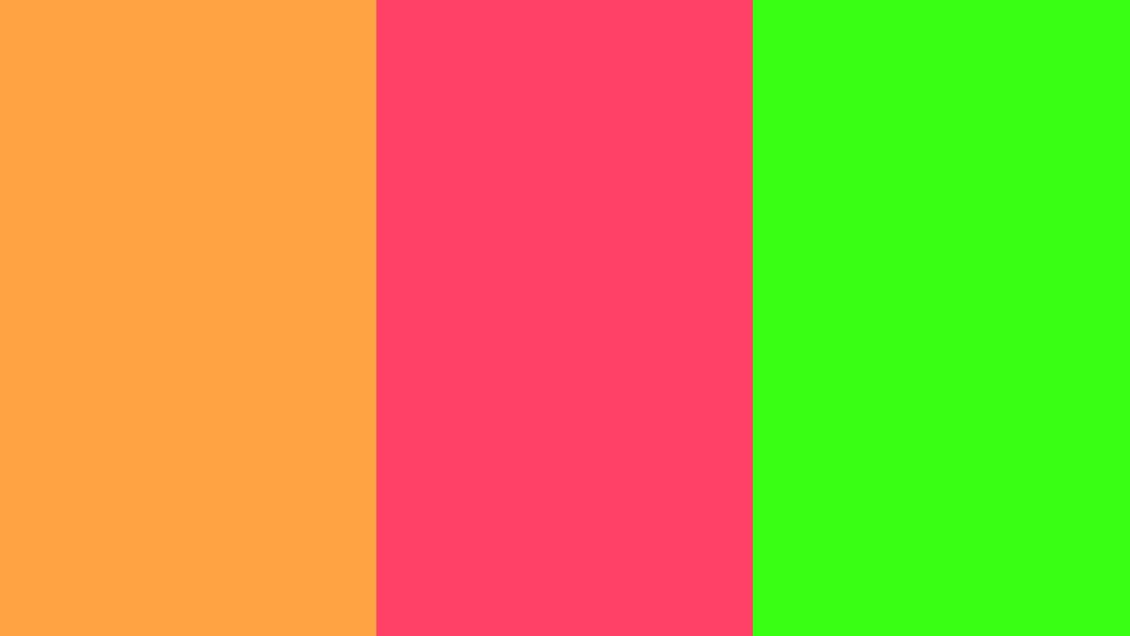 neon carrot neon fuchsia neon green three color backgroundjpg 1600x900