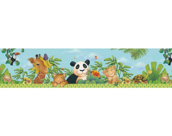 Jungle Freestyle Pre Pasted Border   Wall Sticker Outlet 580x460