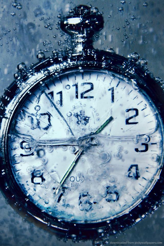 Clock Wallpaper for iPhone - WallpaperSafari