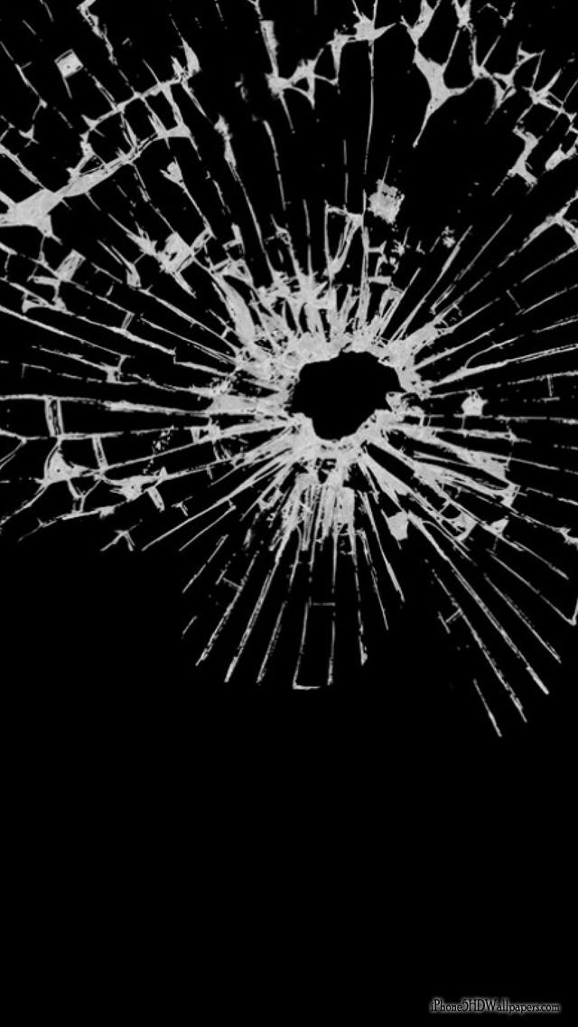 Broken iPhone Screen Cracked 640x1136