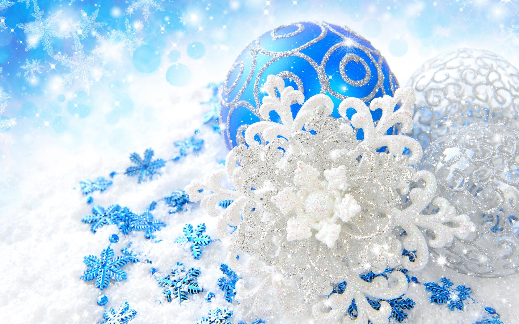 Photo Collection Blue And Silver Christmas Wallpaper
