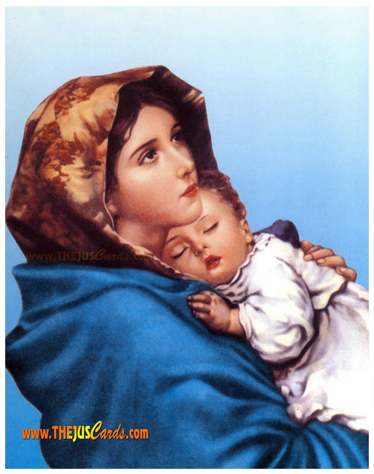 Jesus Christ Mother Mary Wallpapers Wallpapersafari