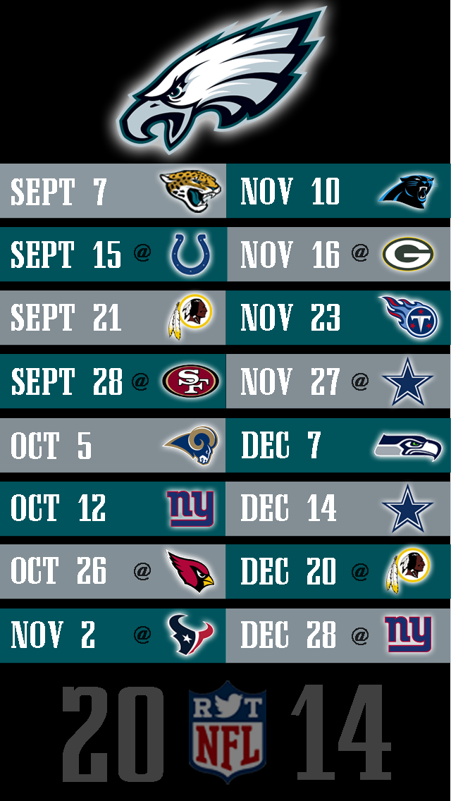 2014 NFL Schedule Wallpapers For IPhone 5