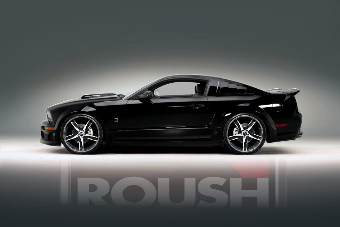 Black Roush Mustang Desktop and mobile wallpaper Wallippo 1095x730