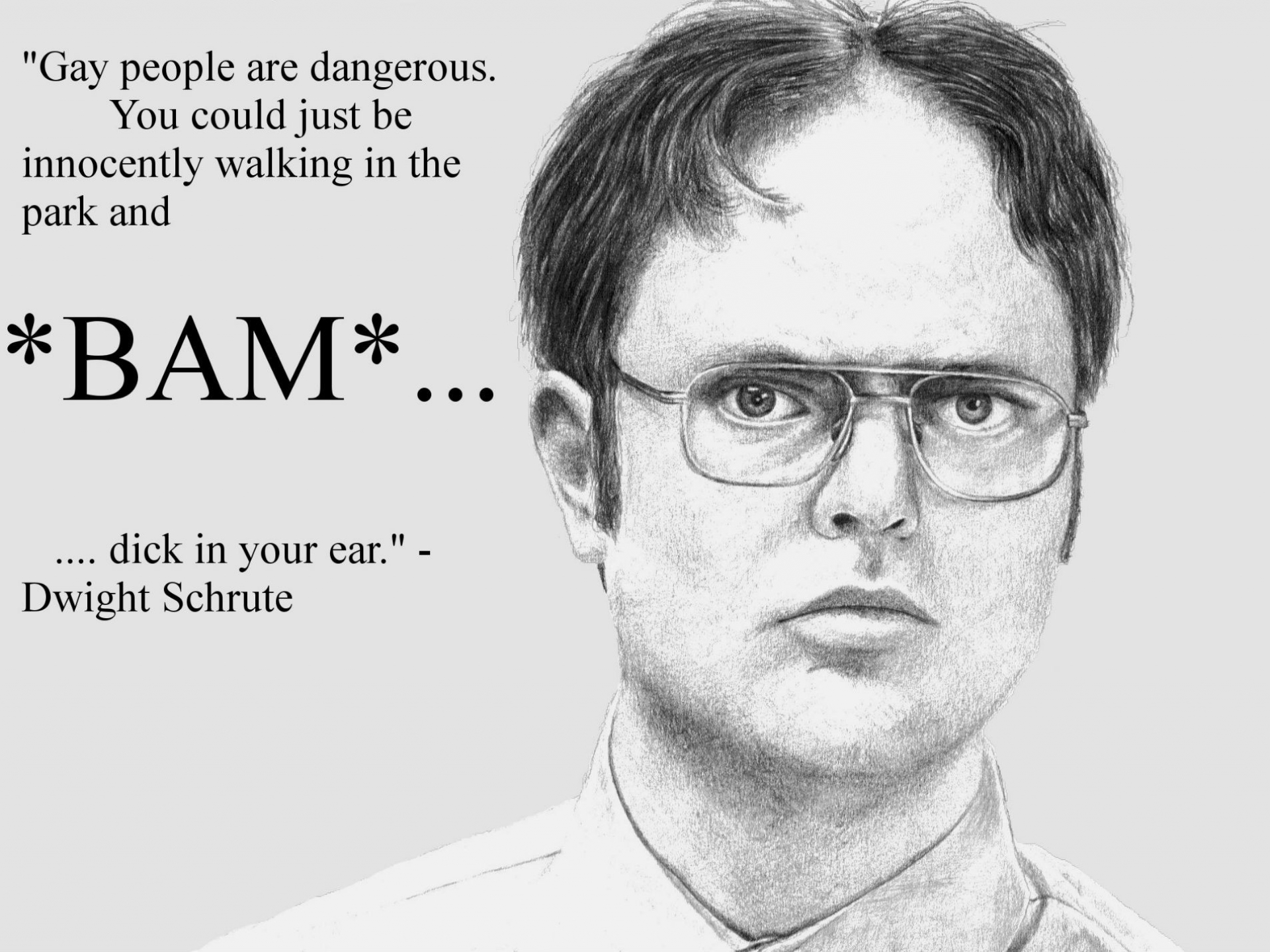 schrute drawings Knowledge Quotes humor sadic gay wallpaper background 1920x1440