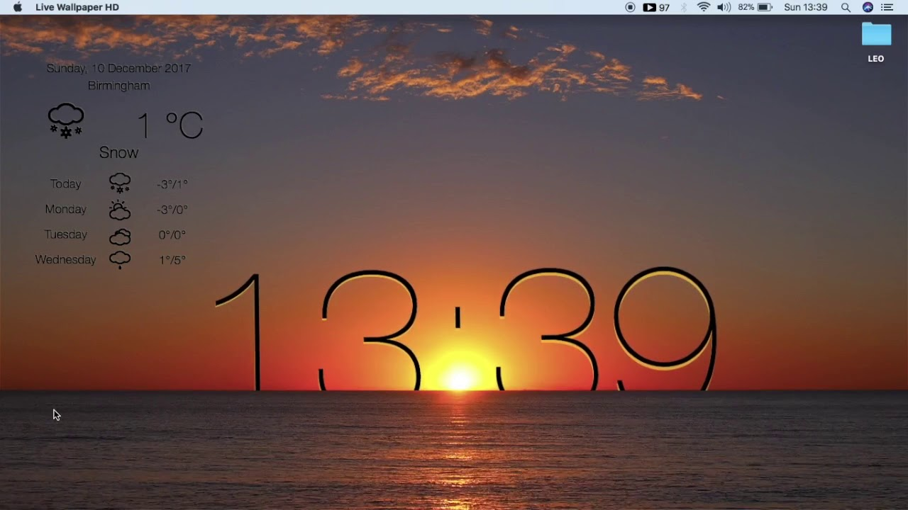 HOW TO GET FREE LIVE WALLPAPER WEATHER WITH CLOCK HD FOR MAC 1280x720