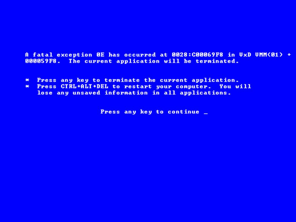 Blue Screen Of Death Wallpaper 1024x768