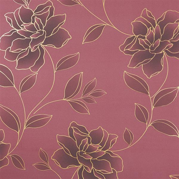 floral luxury gold embossed velvet wallpaper 10m Roll NPP256508 600x600
