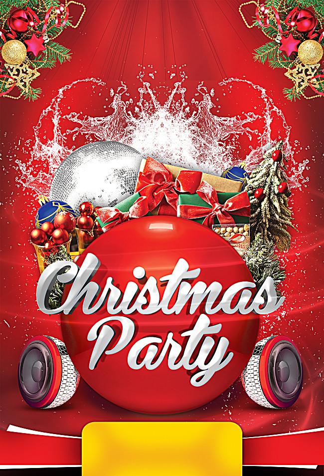 Christmas Party Poster Background Christmas Tree 650x954