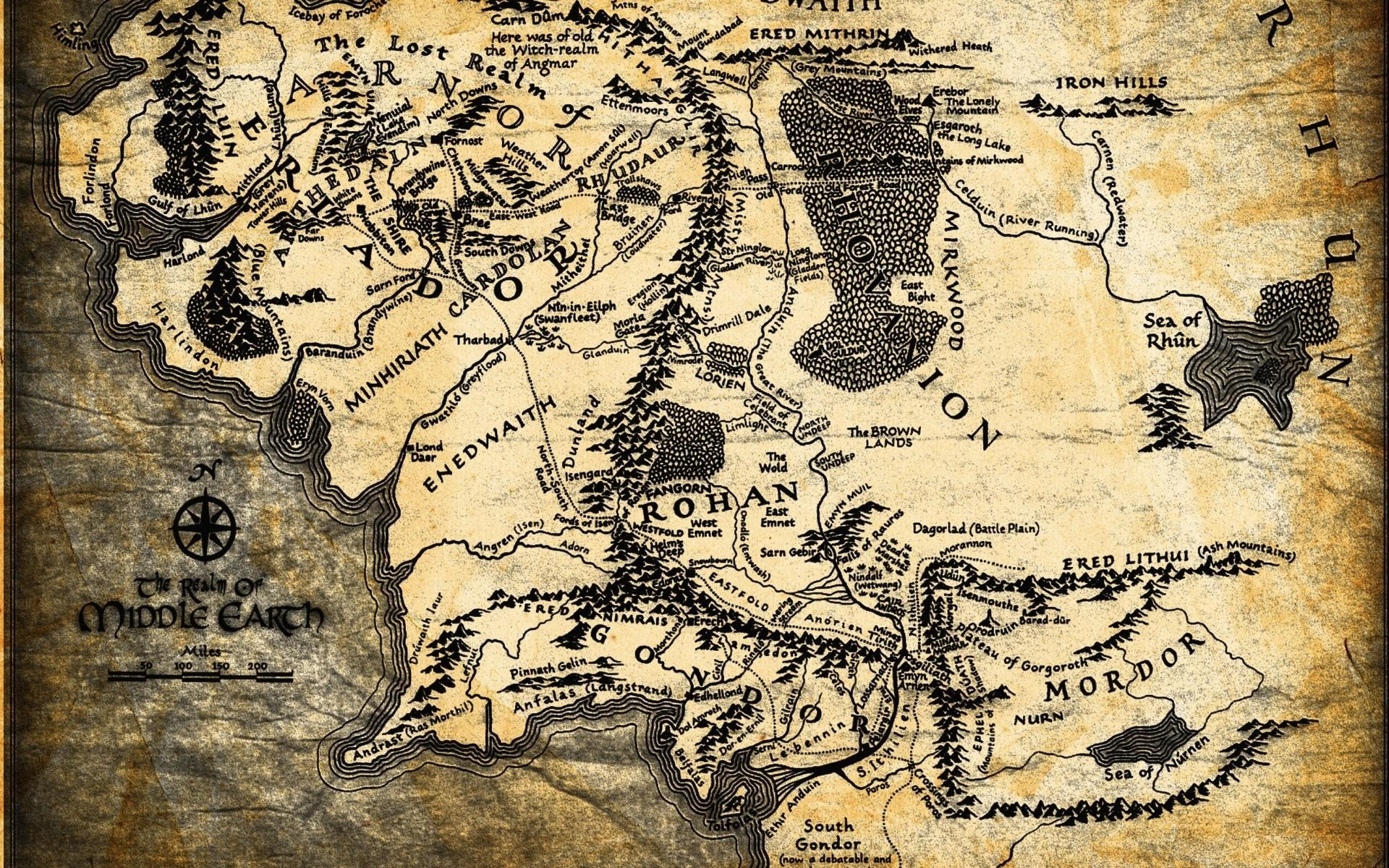 Lord of The Rings Map Wallpaper HD Wallpapers 1920x1200