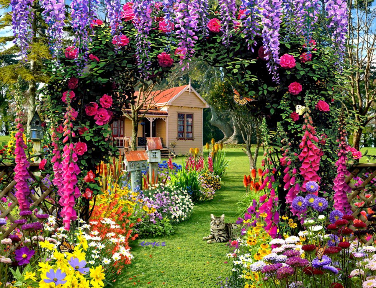 Flower Garden Wallpaper Or Background diariesofafashionfreak 1274x976