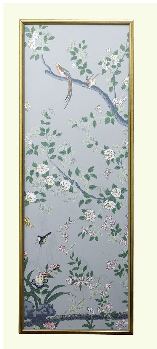 Hand Painted Chinoiserie Wallpaper Panels at 1stdibs 526x1172