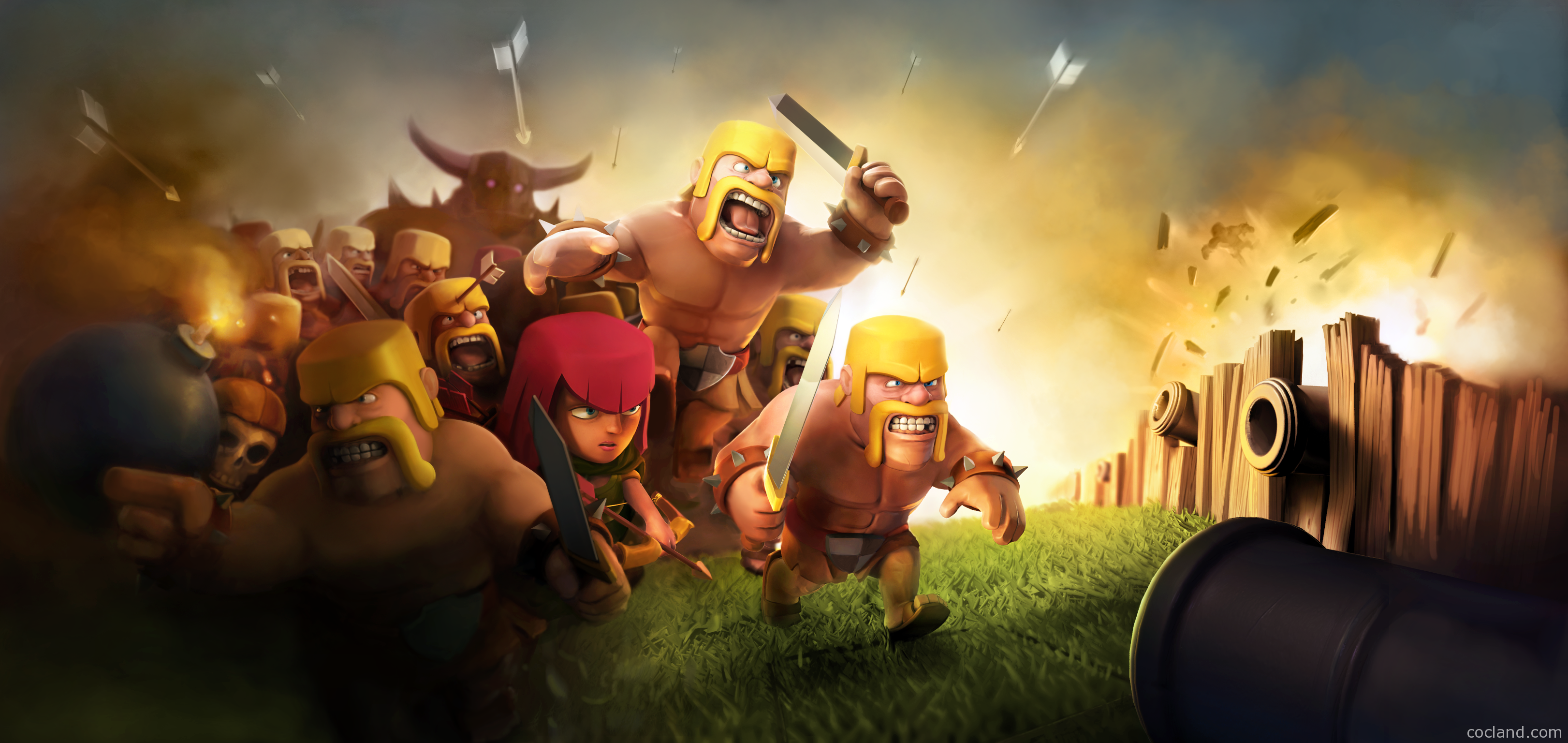 Top Giant Clash Of Clans Wallpaper Wallpapers 3243x1536