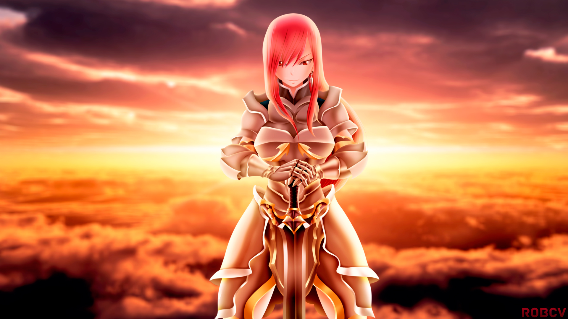Erza Scarlet Wallpaper HD