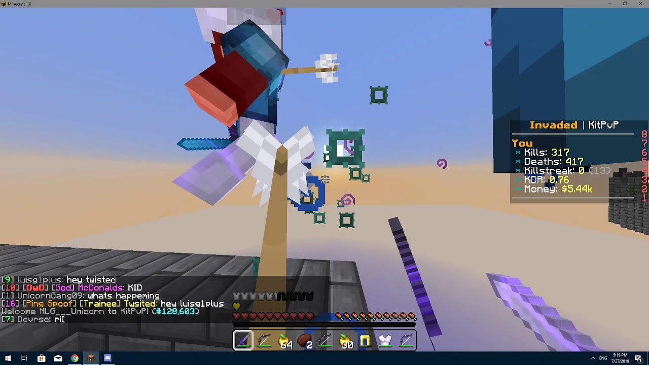 Fly Hacker in Invaded Lands KitPVP Ignore the kid in the 1280x720