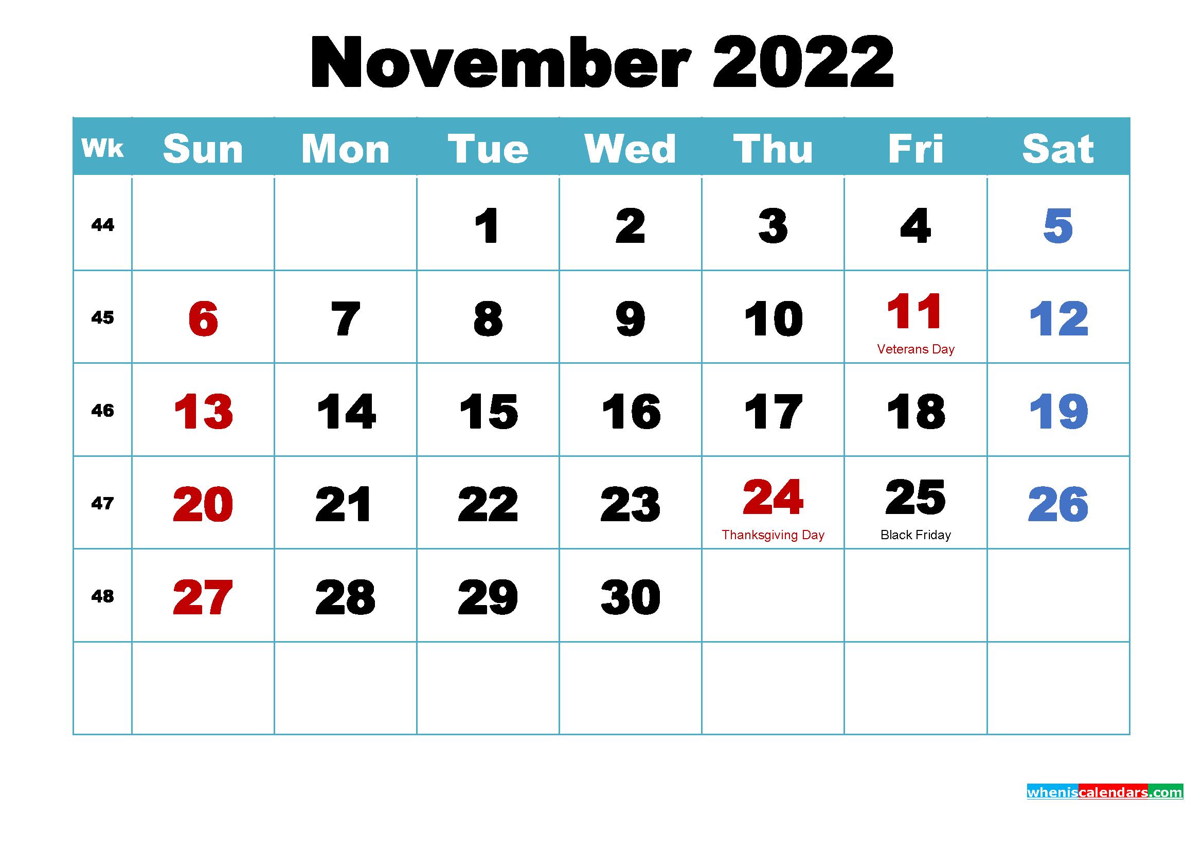 November 2022 Calendar Wallpaper Download 2339x1654