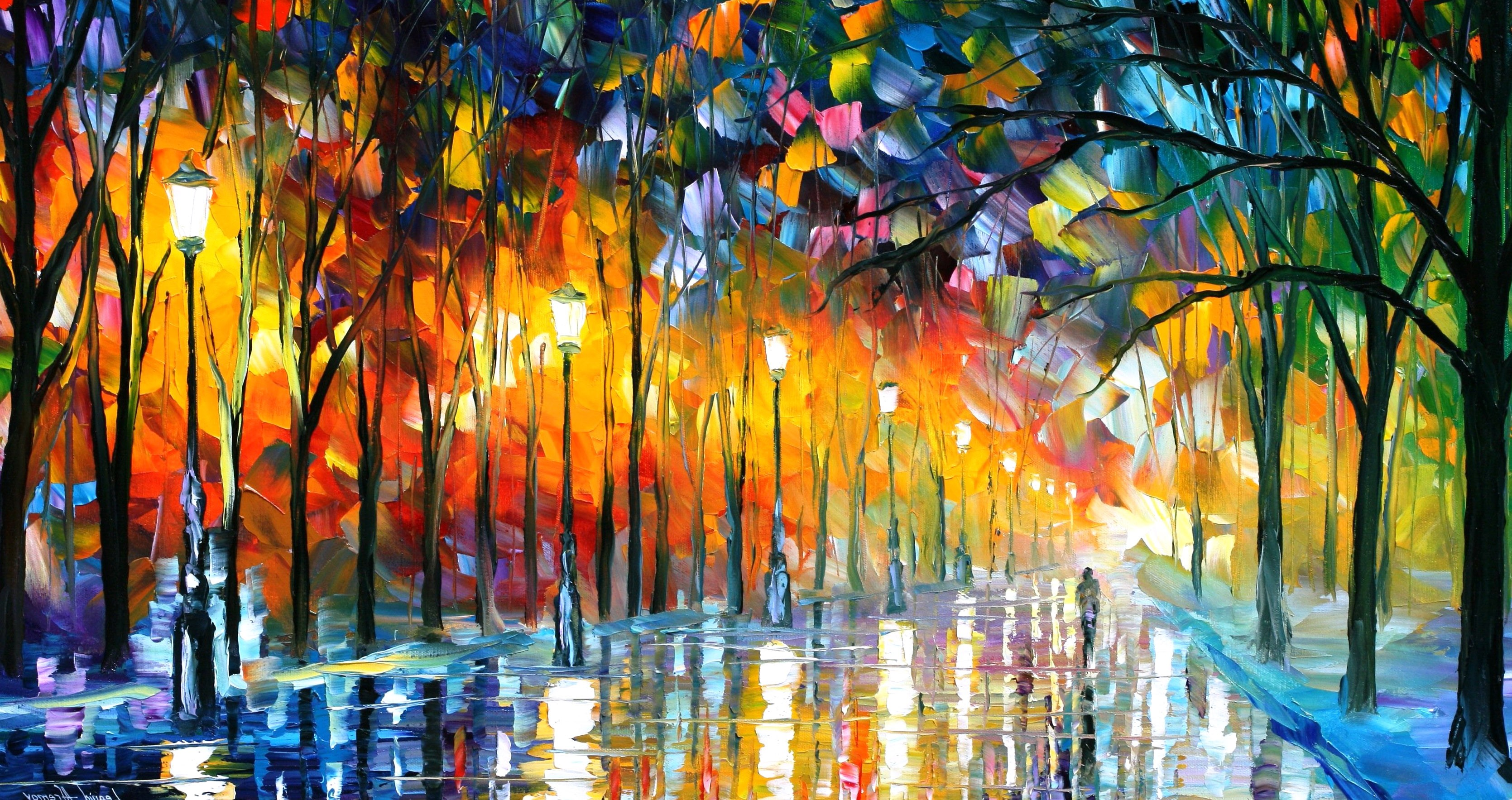 Abstract Modern Paintings Amazing Colorful Absract Best Arts 3339x1767