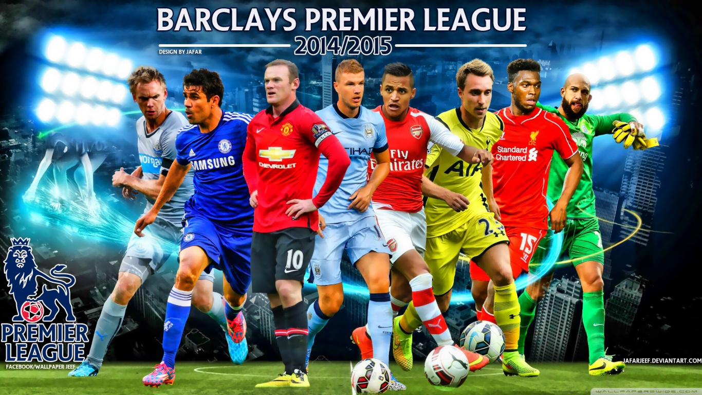 Barclays Premier League 2014 15   Stylish HD Wallpapers 1366x768