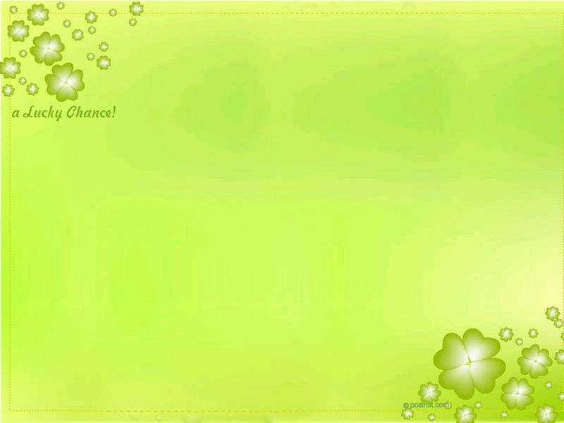 Lucky Change Background Wallpaper for PowerPoint Presentations 800x600
