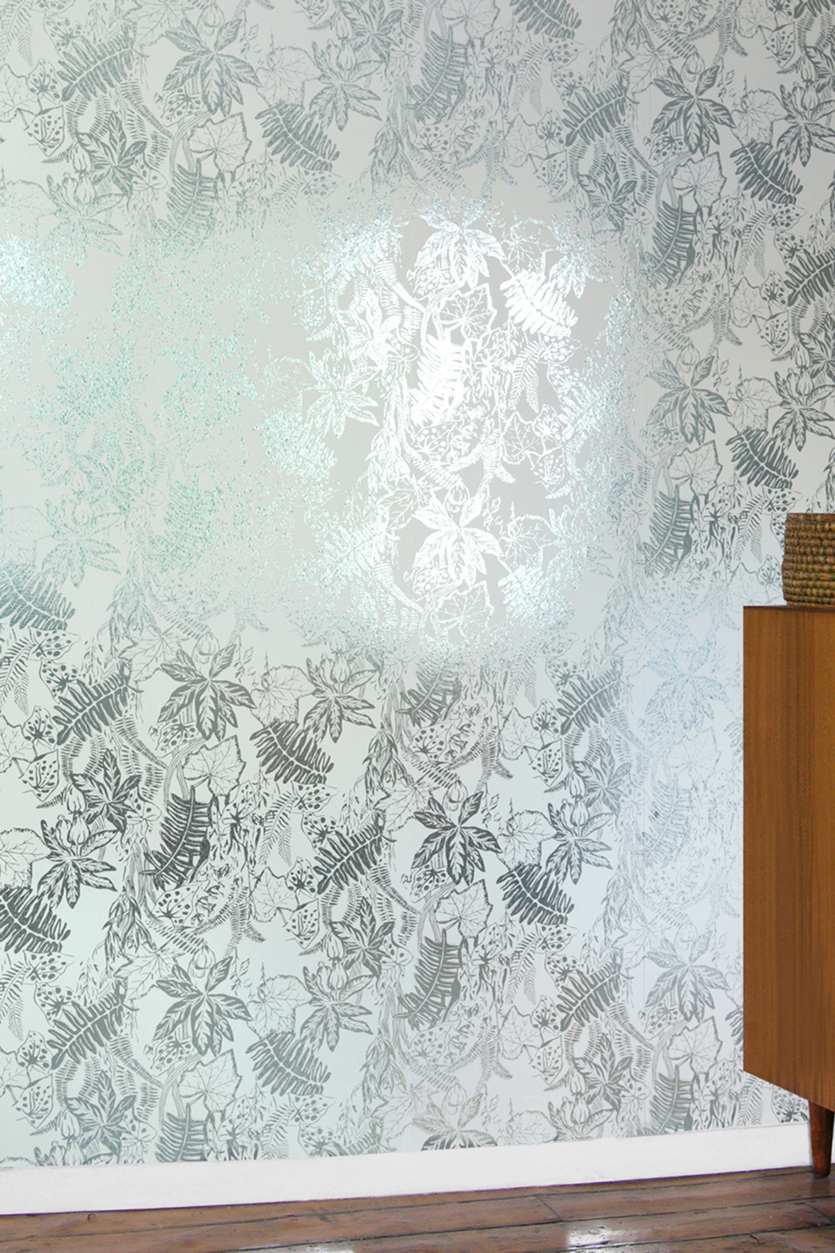 Hothouse Wallpaper   Jade White and Silver Monument Interiors 1200x1800
