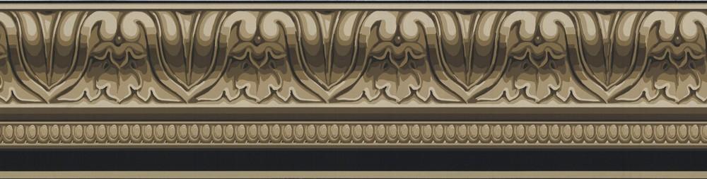 Details about Wallpaper Border Taupe Black Faux Crown Molding 1000x253