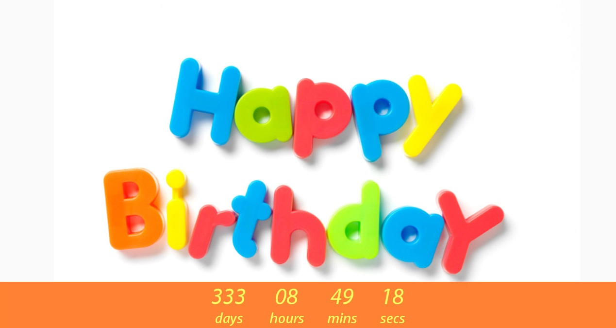 Birthday Countdown Cute Wallpapers for Desktop 1269x675