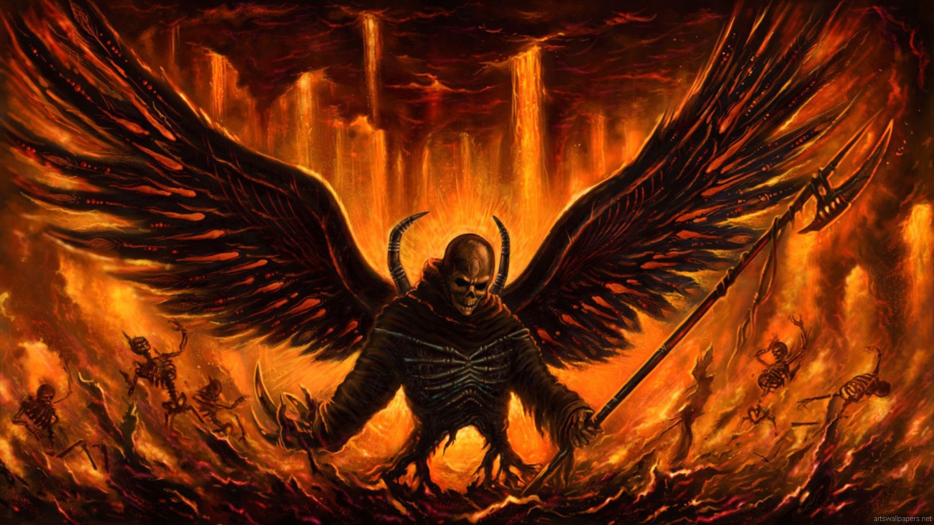 Dark Angel Wallpaper 1920x1080 Dark, Angel