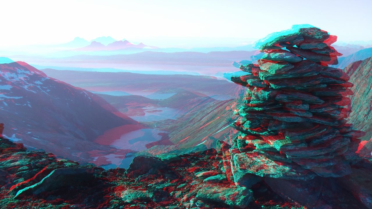 3d anaglyph foto   Munte   HD Wallpapers 1280x720