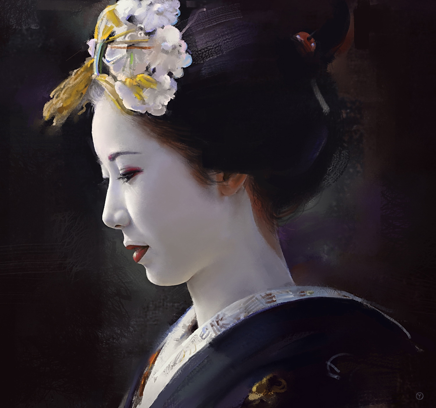 Geisha Wallpaper Geisha Illustration Wallpaper Geisha 1500x1401