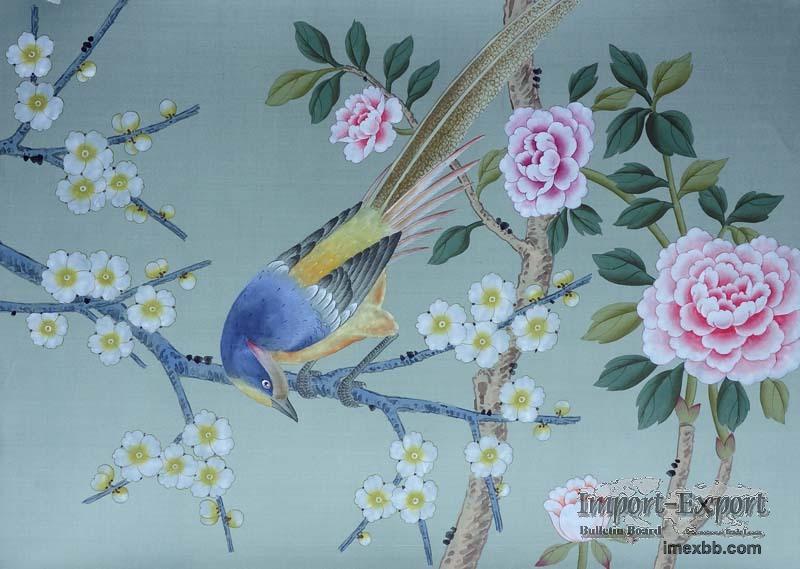 hand painted silk wallpaper10 800x569
