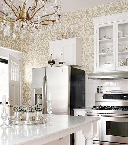 wallpaper kitchens 2015   Grasscloth Wallpaper 500x564