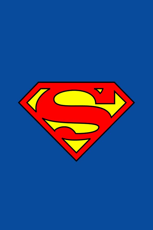Download logos wallpaper Superman Logo with size 640x960 pixels 640x960
