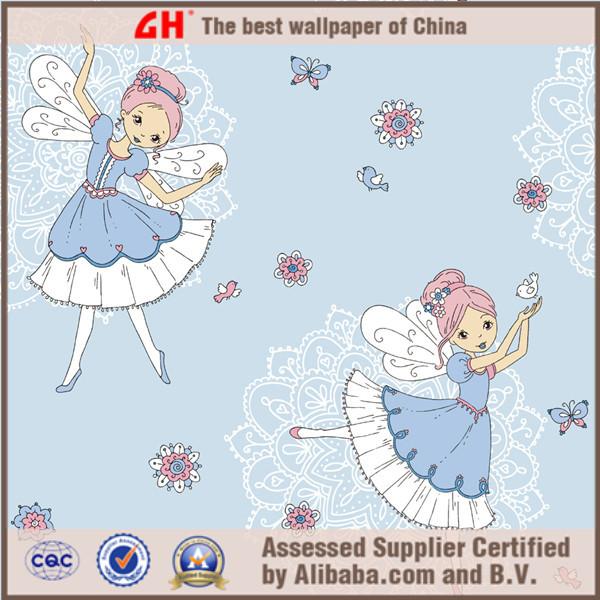 Flower And Bird Wallpaper Design Eco friendly Blue Girl Room Wallpaper 600x600
