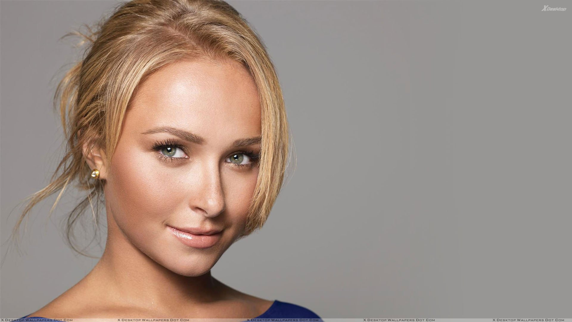 Hayden Panettiere Smiling And Wet Lips Face Closeup Wallpaper 1920x1080