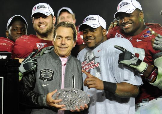 Alabama Football National Championships Nick saban and alabama after 540x380