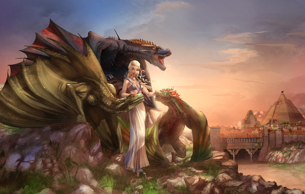 Wallpaper a song of ice and fire a song of ice and fire daenerys 596x380
