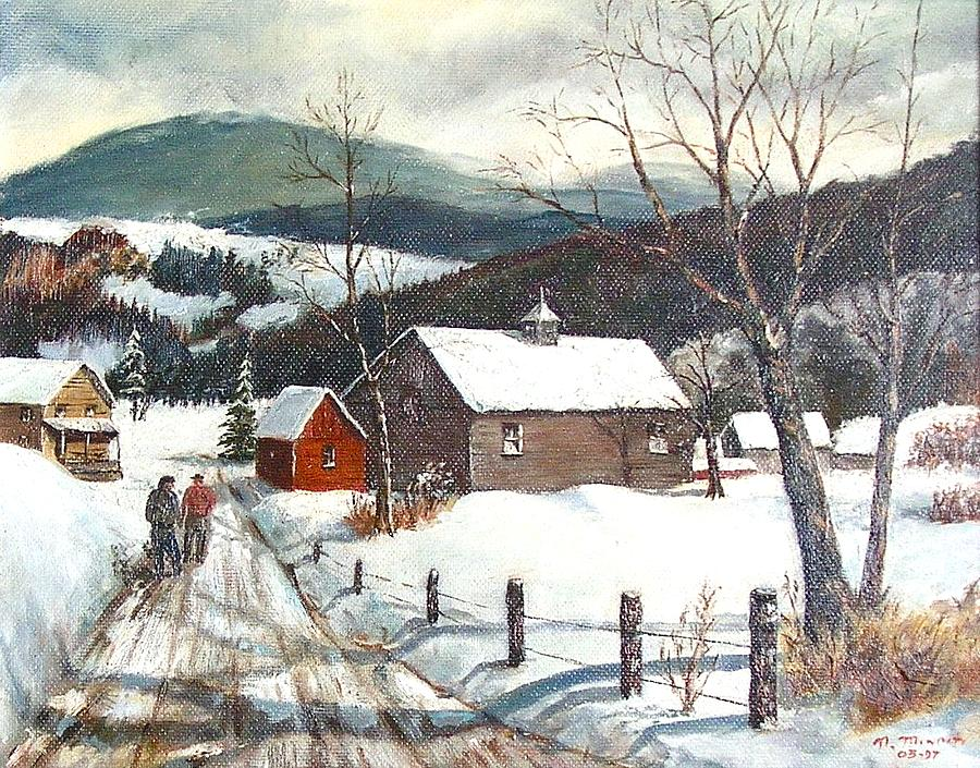 New England Winter Scene by Nicholas Minniti 900x705