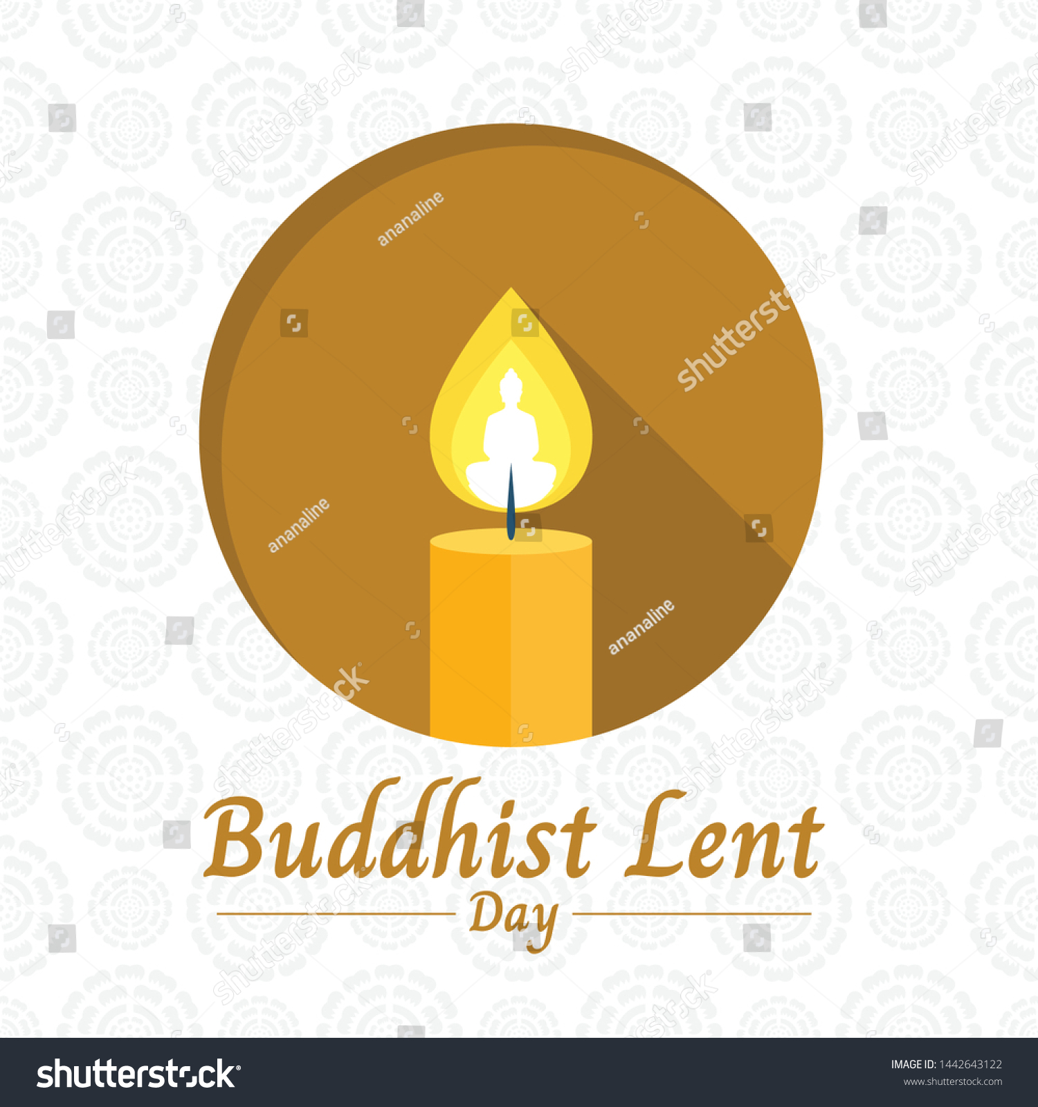 The Buddhist Lent Day Stock Vectors Images Vector Art 1500x1600