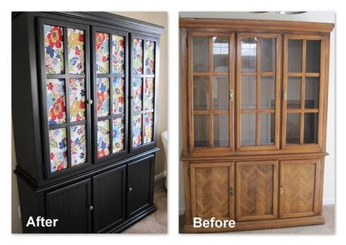 hutch china cabinets house ideas china cabinet redo diy craft ideas 500x354