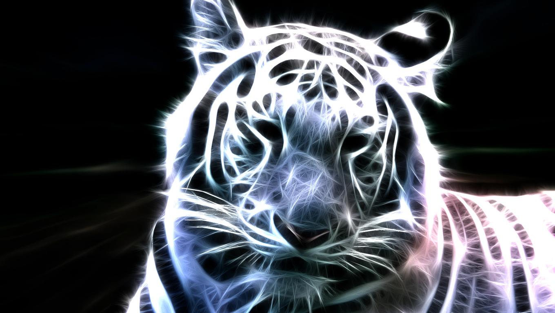 Neon white tiger wallpapers HD Wallpaper 1360x768