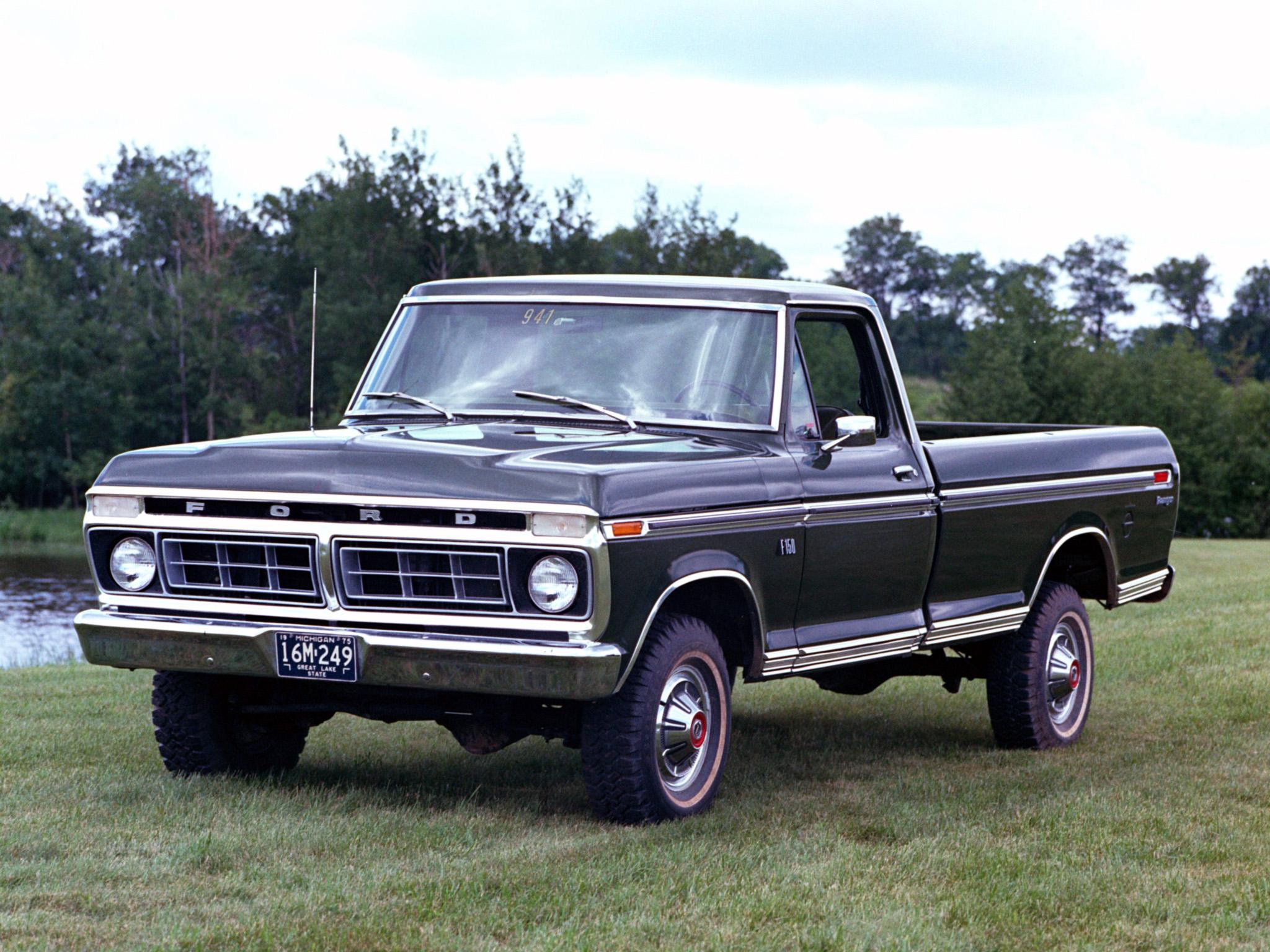 1976 Ford F 150 Ranger 4x4 pickup wallpaper background 2048x1536